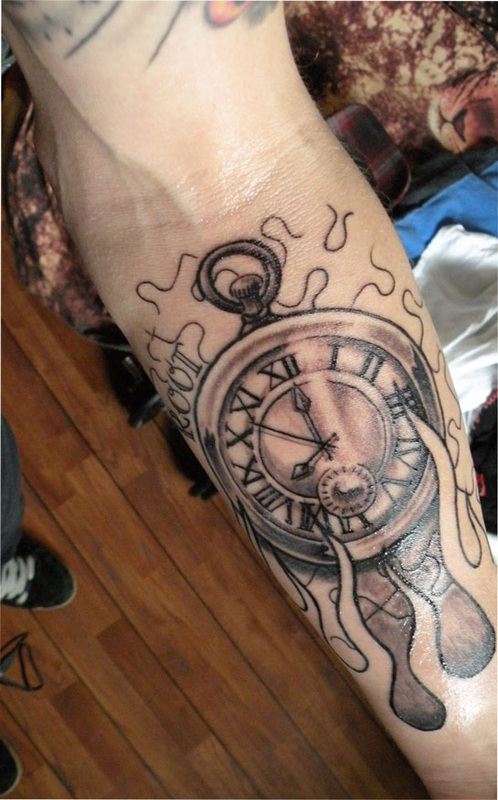 Clocks tattoo and piercing gallery
